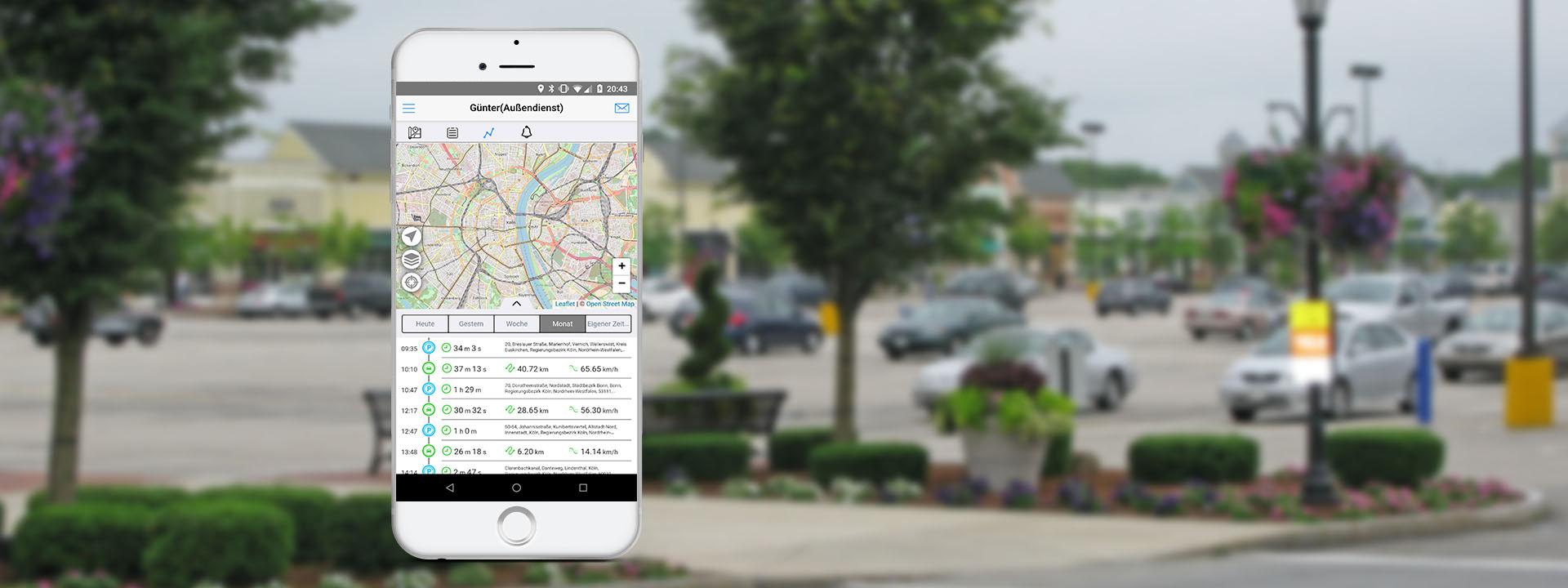 Automatische Fahrtbuch App